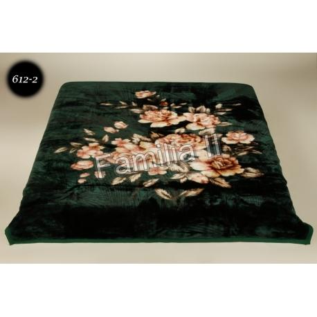 Blanket Elway 160x210 - kwiaty babci green