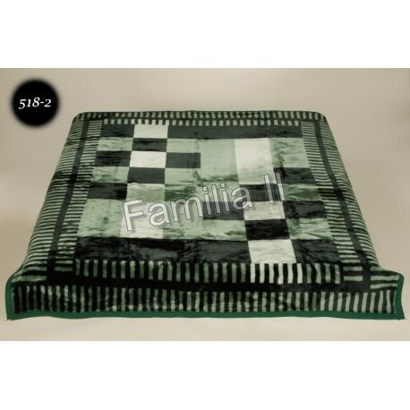 Koc Elway 160x210 - krata zielona 518-2