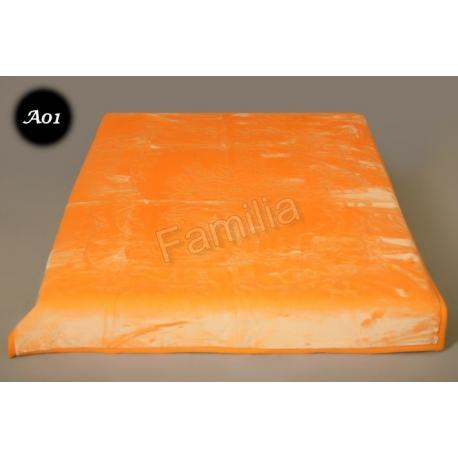 Koc Elway 160x210 - pomarańczowy wytłaczany A01