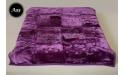 Koc Elway 160x210 - fioletowy ciemny wytłaczany A35