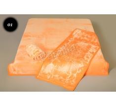 Komplet narzut na łóżko i dwa fotele Elway - pomarańczowy tłoczony 01