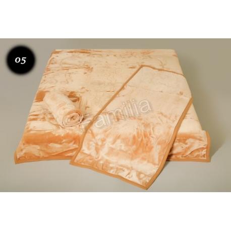 Komplet narzut na łóżko i dwa fotele Elway - piaskowy tłoczony 05