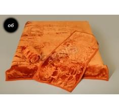 Komplet narzut na łóżko i dwa fotele Elway - rudy tłoczony 06