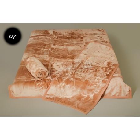 Komplet narzut na łóżko i dwa fotele Elway - beżowy tłoczony 07