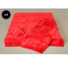 Komplet narzut na łóżko i dwa fotele Elway - czerwony tłoczony 08