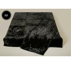 Komplet narzut na łóżko i dwa fotele Elway - czarny tłoczony 23