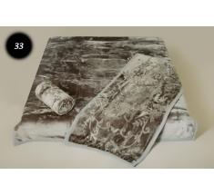 Komplet narzut na łóżko i dwa fotele Elway - szary tłoczony 33