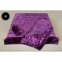 Komplet narzut na łóżko i dwa fotele Elway - fioletowy tłoczony 35