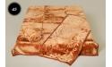 Komplet narzut na łóżko i dwa fotele Elway - brązowy tłoczony 45