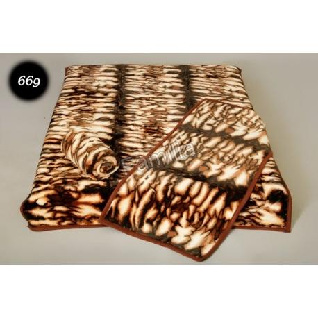 Komplet narzut na łóżko i dwa fotele Elway - tygrysia 669