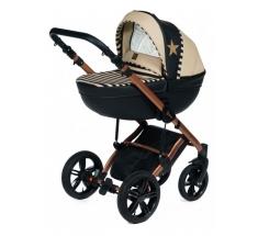 Wózek Dada Paradiso STARS GOLD - 3w1 (gondola + spacerówka + fotelik z adapterem)