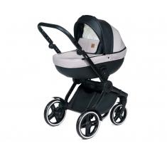 Wózek Dada Paradiso COMPASS BLACK - 3w1 (gondola + spacerówka + fotelik samochodowy)