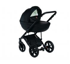 Wózek Dada Paradiso Max 500 PURE BLACK - 3w1 (gondola + spacerówka + fotelik z adapterem)