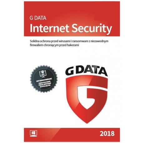G Data INTERNET SECURITY 1PC / 3 LATA - 2018