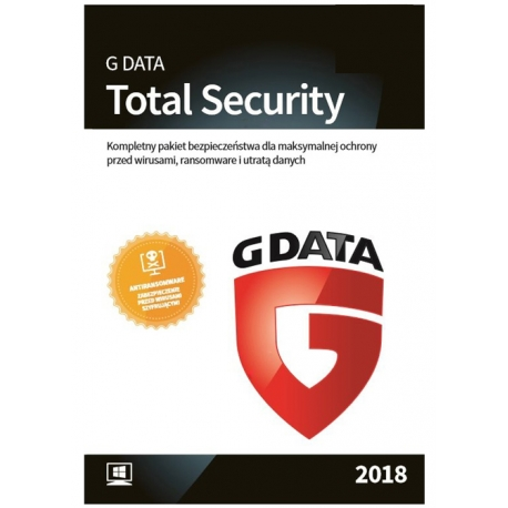 G Data TOTAL SECURITY (Protection) 3PC / 1 ROK - 2018