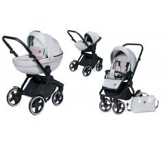 Wózek Dada Paradiso COMPASS GREY - 3w1 (gondola + spacerówka + fotelik samochodowy)