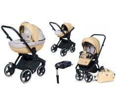 Wózek Dada Paradiso COMPASS BEIGE - 4w1 (gondola + spacerówka + fotelik samochodowy + baza)