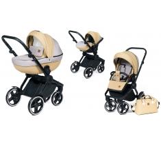 Wózek Dada Paradiso COMPASS BEIGE - 3w1 (gondola + spacerówka + fotelik samochodowy)