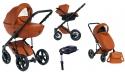 Wózek Dada Paradiso Max 500 CINNAMON - 4w1 (gondola + spacerówka + fotelik samochodowy + baza)