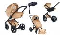 Wózek Dada Paradiso Max 500 GOLDEN ROSE - 4w1 (gondola + spacerówka + fotelik samochodowy + baza)