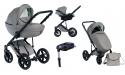 Wózek Dada Paradiso Max 500 LIGHT GREY - 4w1 (gondola + spacerówka + fotelik samochodowy + baza)
