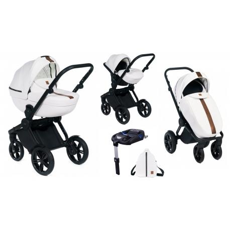 Wózek Dada Paradiso LUXOR WHITE - 4w1 (gondola + spacerówka + fotelik samochodowy + baza)