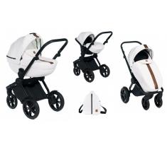 Wózek Dada Paradiso LUXOR WHITE - 3w1 (gondola + spacerówka + fotelik samochodowy)