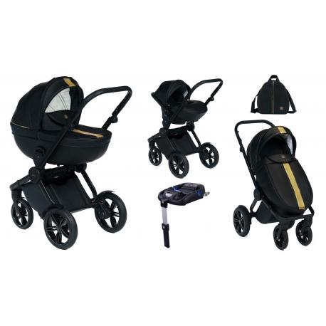 Wózek Dada Paradiso LUXOR GOLD - 4w1 (gondola + spacerówka + fotelik samochodowy + baza)