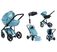 Wózek Dada Paradiso Max 500 OCEAN BLUE - 4w1 (gondola + spacerówka + fotelik samochodowy + baza)