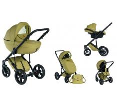 Wózek Dada Paradiso Max 500 SPRING GREEN - 3w1 (gondola + spacerówka + fotelik z adapterem)