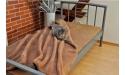 Koc wełniany CAMEL BRĄZ 160x200 Prestige Collection