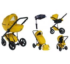 Wózek Dada Paradiso Max 500 SUNFLOWER - 4w1 (gondola + spacerówka + fotelik samochodowy + baza)