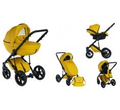 Wózek Dada Paradiso Max 500 SUNFLOWER - 3w1 (gondola + spacerówka + fotelik z adapterem)