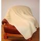 Koc Merynos Europejski 160x200 - Biały gładki