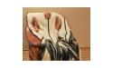 Koc wełniany Merynos Europejski 160x200 - Tulipan brąz