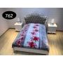 Blanket Elway 160x210 - kwiaty babci na brązie