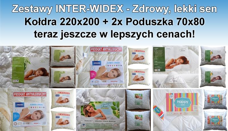 Zestawy Antyalergiczne - Kołdra z poduszkami INTER-WIDEX